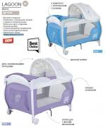 Манеж-кровать Happy Baby Lagoon Blue
